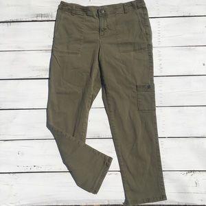 J Jill Denim Cropped Army Green Pants, 10